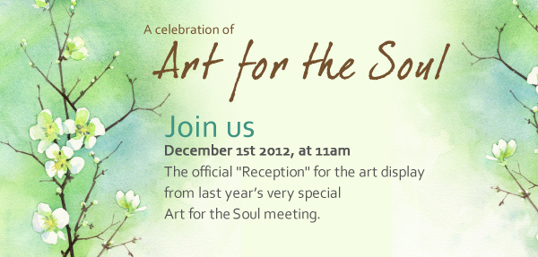 "Special ""Art for the Soul"" Support Meeting"