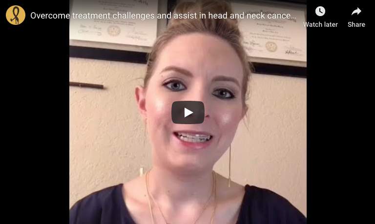 Overcome treatment challenges and assist in head and neck cancer-recovery