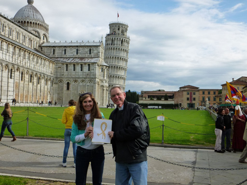Mike and Cynthia visiting Pisa, Italy
