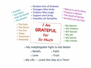Gratitude … The Act of Recognizing the Kindness of Others and the Happinesses we discover in Life.