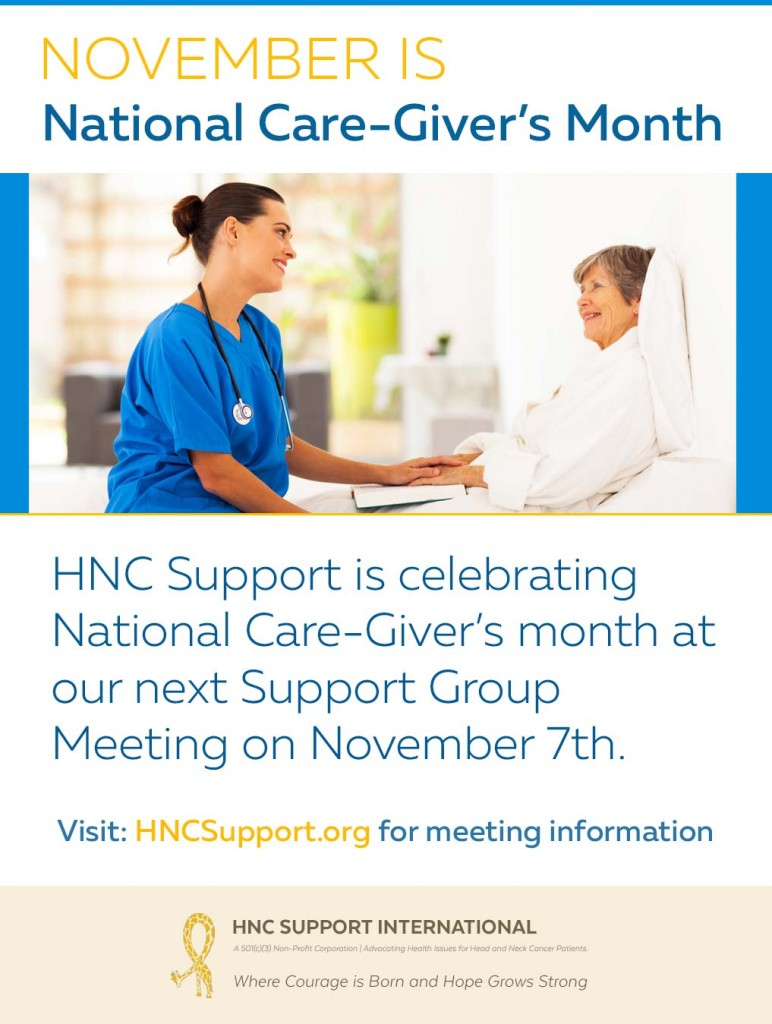 November is National Care-Giver's Month