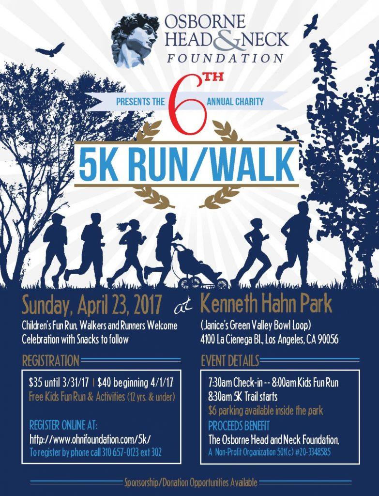 Osborne Head and Neck Foundation Charity 5K Run/Walk 2017