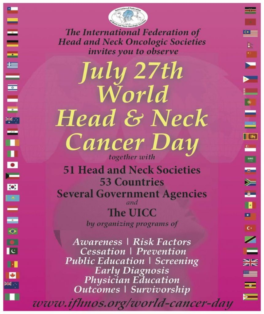 July 27th World Head and Neck Cancer Day